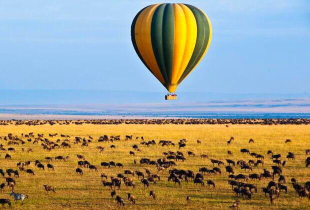 tanzania balloon Safari